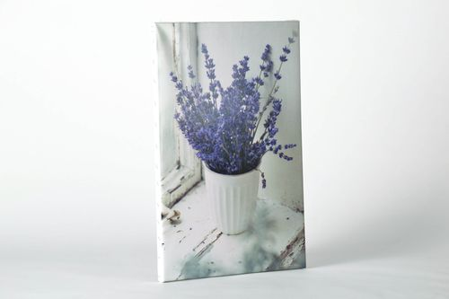 Painting Lavender in an Old Window - MADEheart.com