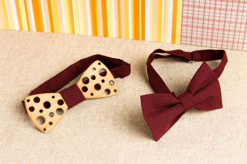 Handmade designer bow ties unusual female bow ties 2 stylish accessories - MADEheart.com