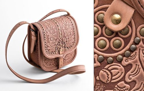 Из кожи своими руками: сумка, кошелек, пояса