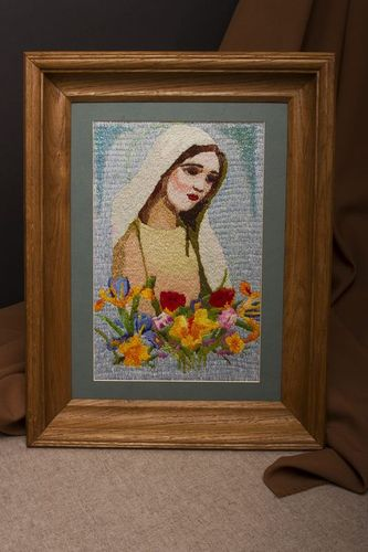 Embroidered picture in frame - MADEheart.com