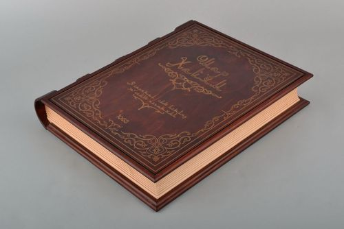 Decorative handmade box made of wood in the form of book - MADEheart.com