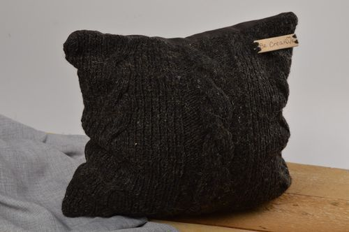 Handmade designer pillowcase knitted pillowcase for home decorative use only - MADEheart.com