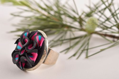 Handmade ring polymer clay accessories unusual clay jewelry gift ideas - MADEheart.com