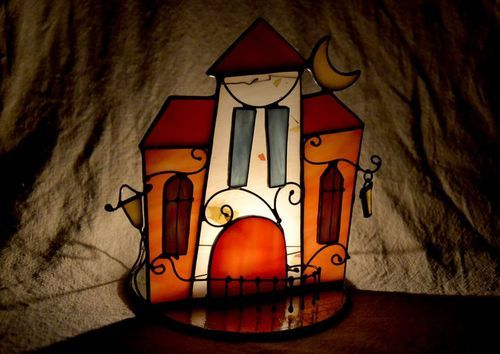 Stained glass candlestick - MADEheart.com