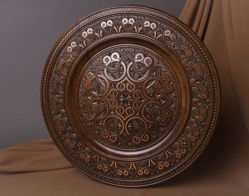 Decorative carved plate - MADEheart.com