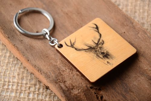 Handmade key ring wooden keychain key accessories wooden gifts souvenir ideas - MADEheart.com
