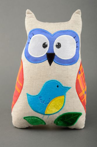 Handmade fabric pillow pet Owl - MADEheart.com