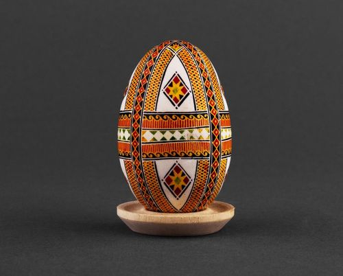 Goose Easter egg with ornament - MADEheart.com