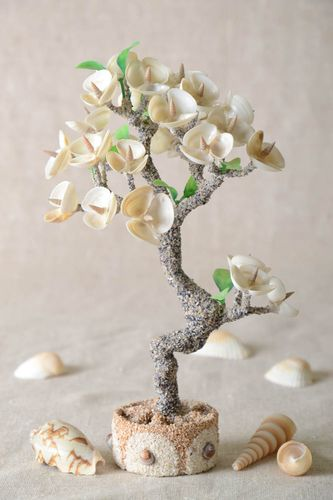 Handmade tree with flowers artificial tree decoration tree handmade gift - MADEheart.com
