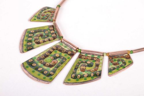 Copper necklet in ethnic style - MADEheart.com