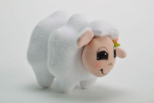 Soft toy Lamb with a rose - MADEheart.com