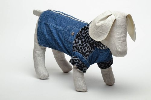 Denim jumper for dog - MADEheart.com
