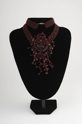 Beautiful handmade beaded necklace woven bead necklace cool jewelry designs - MADEheart.com