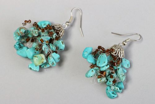 Earrings with turquoise - MADEheart.com