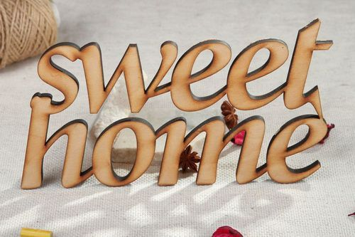 Chipboard lettering SWEET HOME - MADEheart.com