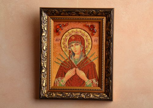 Reproduction of Orthodox icon of the Mother of God of Seven Arrows - MADEheart.com