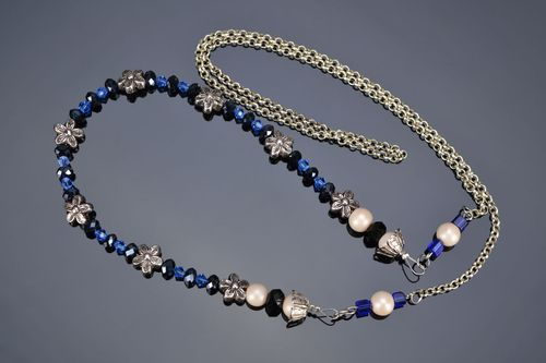 Crystal bead necklace - MADEheart.com