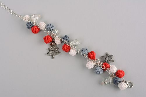 New Years bracelet with charms - MADEheart.com