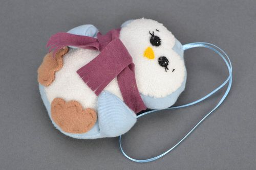 Handmade soft toy with eyelet Snowman - MADEheart.com