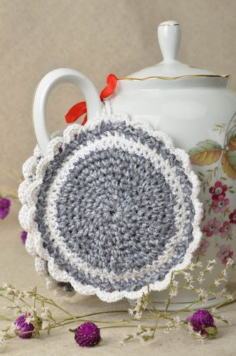 Beautiful handmade crochet potholder pot holder design kitchen supplies - MADEheart.com