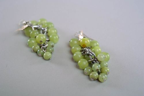 Earrings Made of Beads Wine Grapes - MADEheart.com