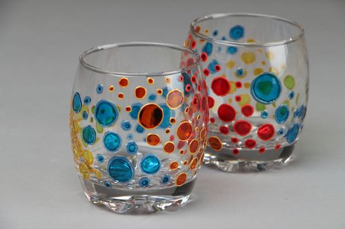 Set of painted glasses - MADEheart.com