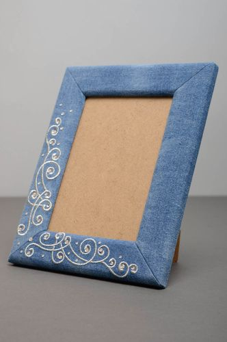 Beautiful denim photo frame - MADEheart.com