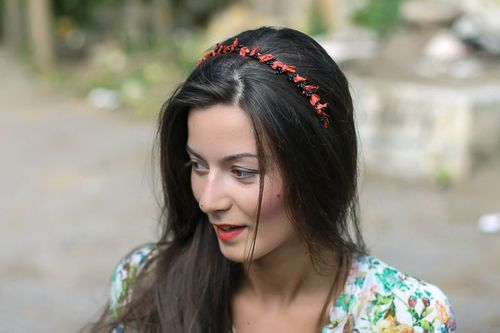 Headband Branch of bird cherry - MADEheart.com