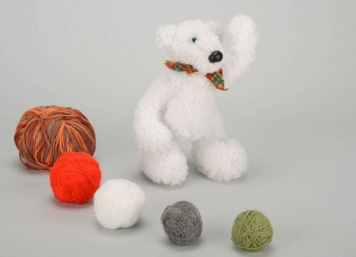 Soft toy Bear in the North - MADEheart.com