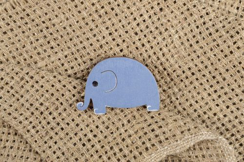 Handmade wooden brooch designer lovely jewelry unusual elephant accessory - MADEheart.com