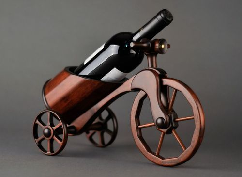 Wooden wine bottle stand Bicycle - MADEheart.com