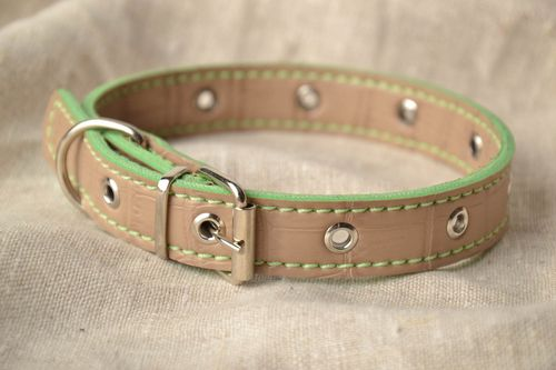 Artificial leather dog collar - MADEheart.com