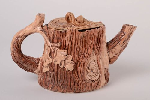 Unusual handmade ceramic teapot beautiful teapot kitchen supplies gift ideas - MADEheart.com