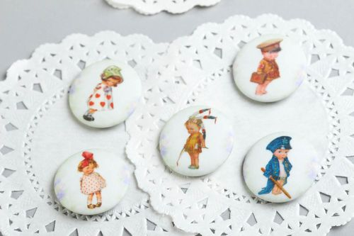 Printed brooches handmade fashion brooches children bijouterie jacket badge - MADEheart.com