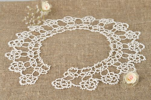 Stylish handmade crochet lace collar woven collar accessories for girls - MADEheart.com