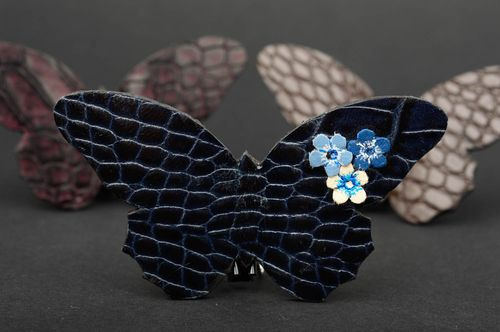 Brooch handmade butterfly brooch leather goods fashion jewelry gifts for women - MADEheart.com