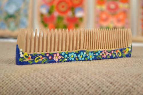 Beautiful handmade wooden hair comb hair style ideas how to do my hair - MADEheart.com
