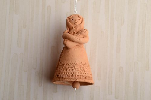 Traditional clay bell in the shape of woman - MADEheart.com