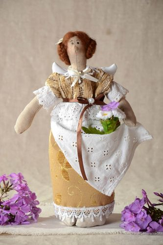 Designer handmade doll cute stylish toy present interesting home accessories - MADEheart.com