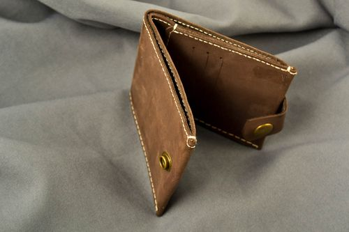 Handmade leather wallet mens leather wallet mens accessories leather goods - MADEheart.com