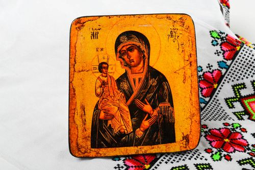 Handmade icon orthodox icons unusual icon beautiful icon of saints gift ideas - MADEheart.com