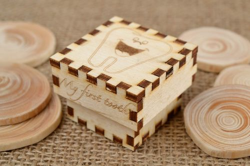 Handmade unusual jewelry box wooden blank for creativity designer decor - MADEheart.com