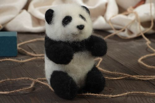 Beautiful small handmade felted wool soft toy childrens pocket friend - MADEheart.com