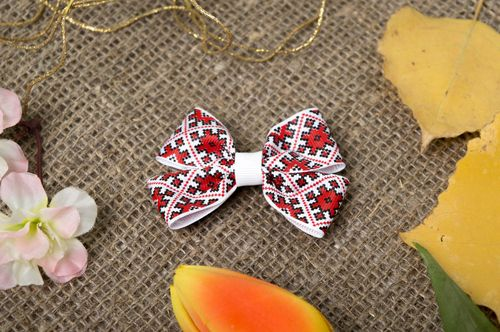 Handmade hair clip designer accessory unusual gift for her hair bow for kids - MADEheart.com