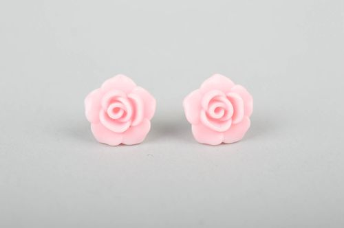 Handmade cute stud earrings designer plastic jewelry flower elegant earrings - MADEheart.com