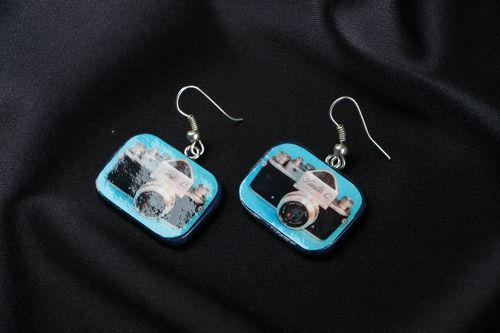 Earrings Camera - MADEheart.com