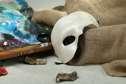 Papier mache mask The Phantom of the Opera - MADEheart.com