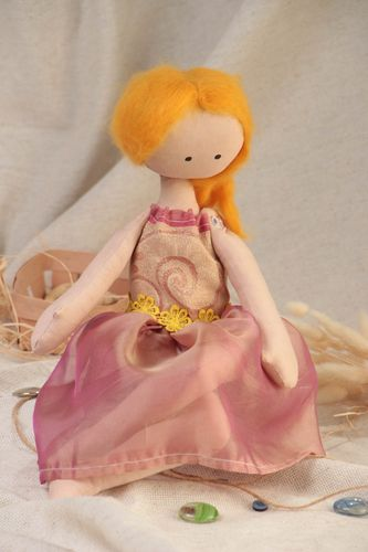 Handmade designer scented doll made of fabrics for interior decoration  - MADEheart.com