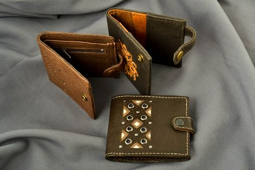 Handmade leather wallets for women ladies wallets women accessories gift for her - MADEheart.com
