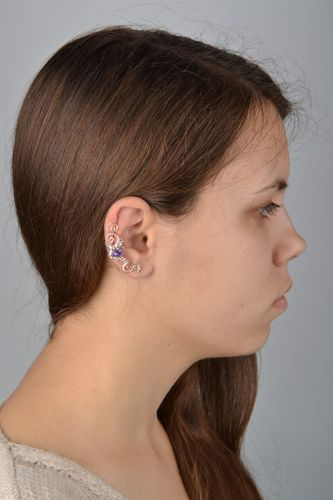 Designer copper cuff earrings - MADEheart.com